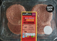 Red onion and cheese beef burguers - Product