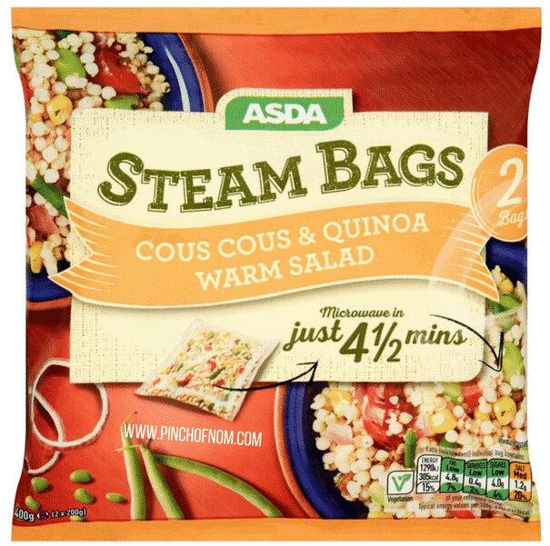 ASDA 4 Steam Bags Giant Couscous & Quinoa - Prodotto - en