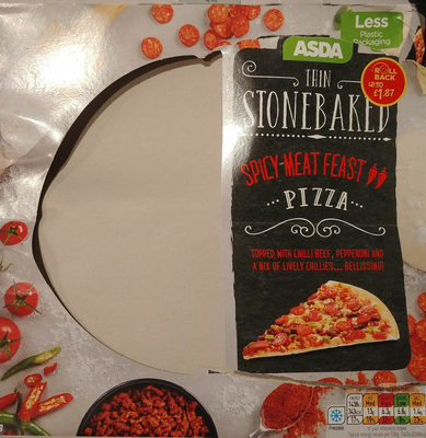 Thin Stonebaked Spicy Meat Feast Pizza - Product