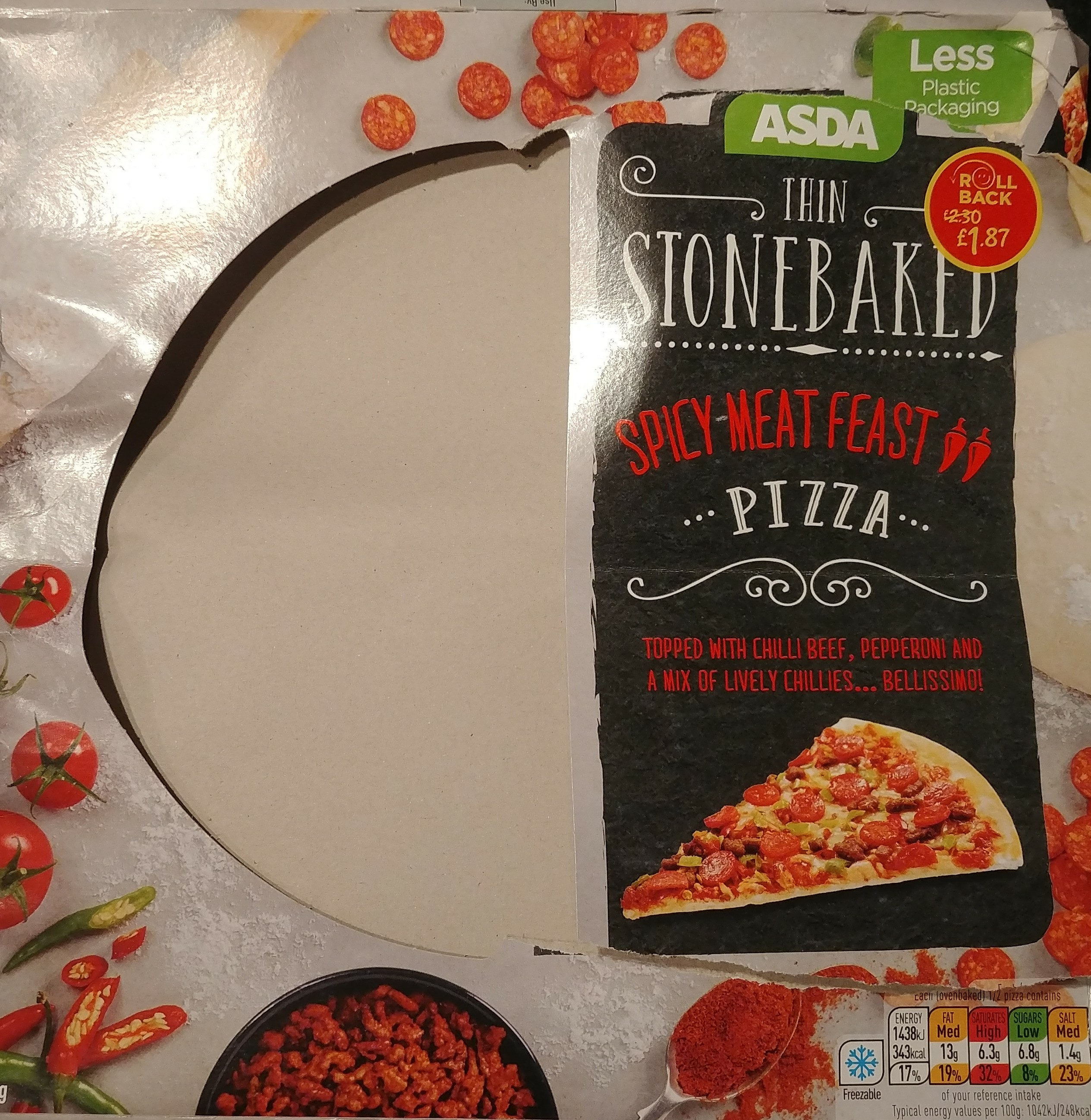 Thin Stonebaked Spicy Meat Feast Pizza - Produit