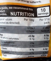 giant wholemeal couscous - Nutrition facts
