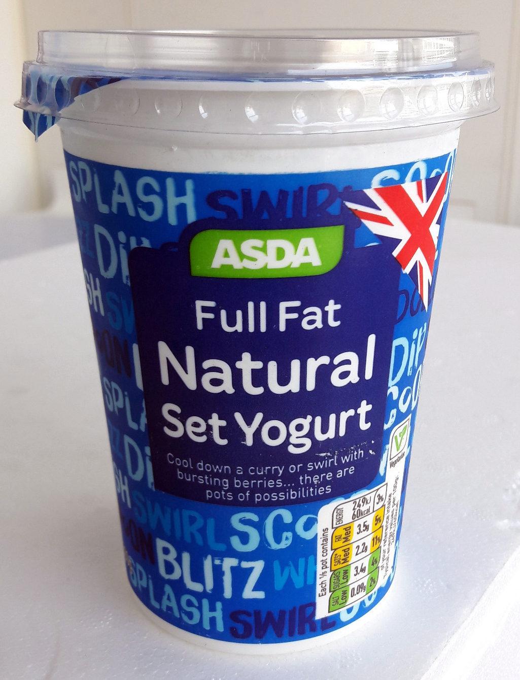 ASDA Full Fat Natural Set Yogurt - Product