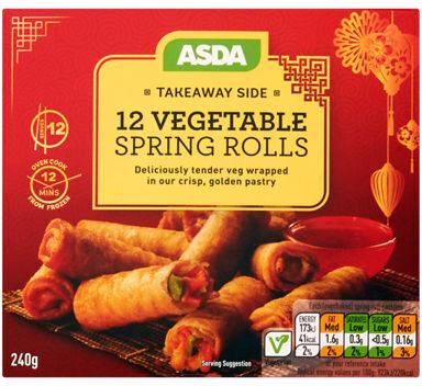 ASDA Takeaway Side 12 Vegetable Spring Rolls - Prodotto - en