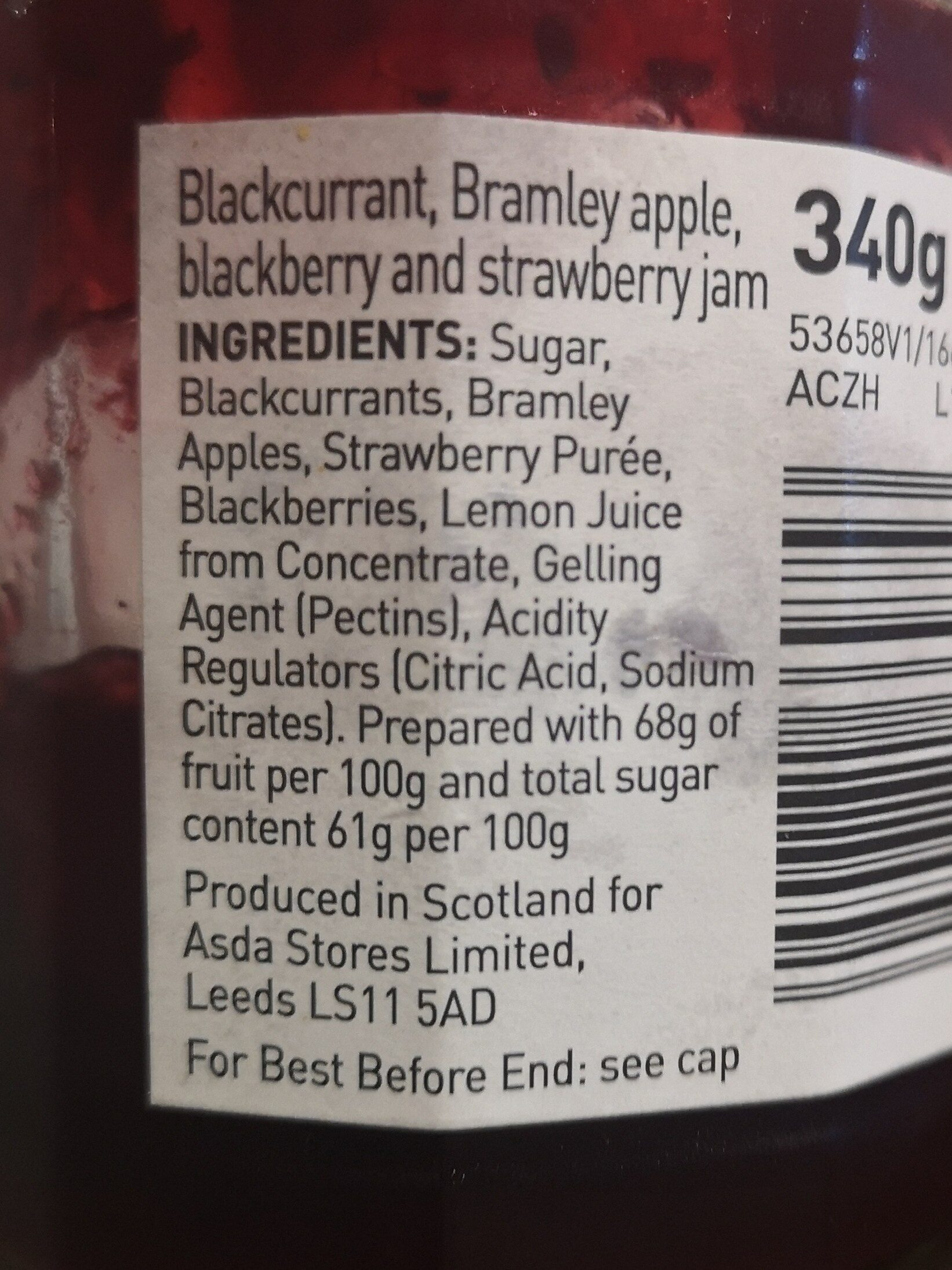 Berry & bramley Apple jam - Ingredients - en
