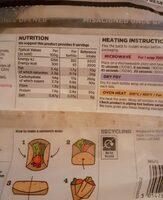Wraps - Nutrition facts
