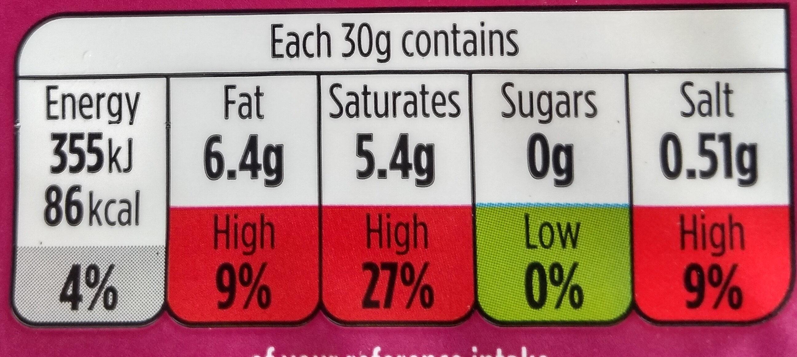 mature Cheddar alternative - Nutrition facts - en