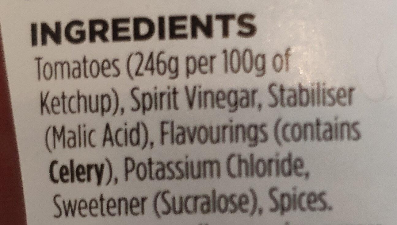 No added Sugar & Salt Tomato Ketchup - Ingredients - en