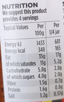 Free From Red Pesto - Nutrition facts - en