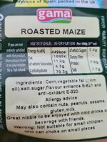 Roasted Maize - Informations nutritionnelles - en