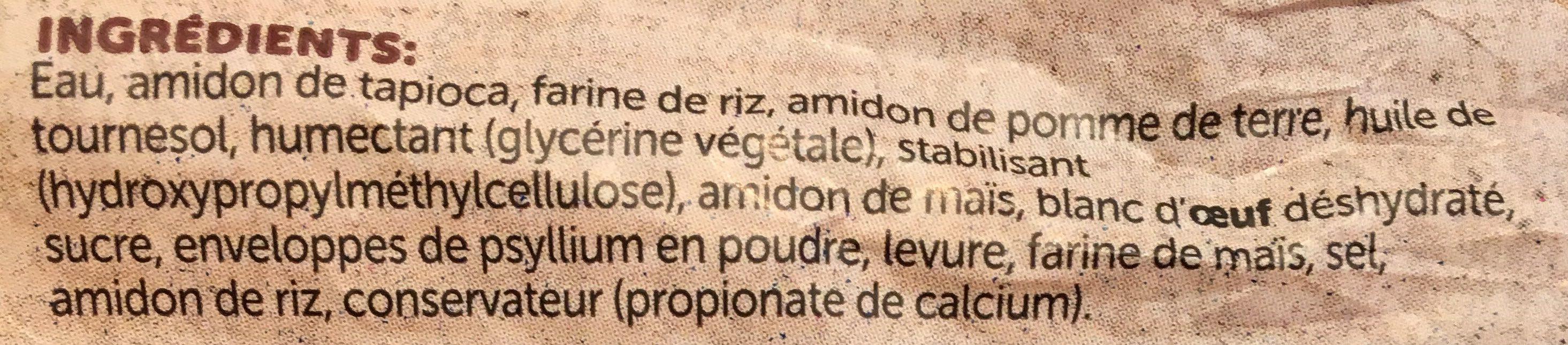 Pain de Mie Tranché Sans Gluten - Ingrédients - fr