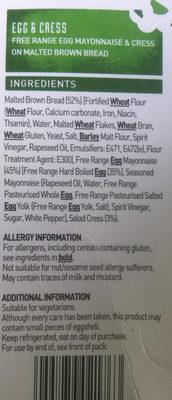 Egg & Cress - Ingredients