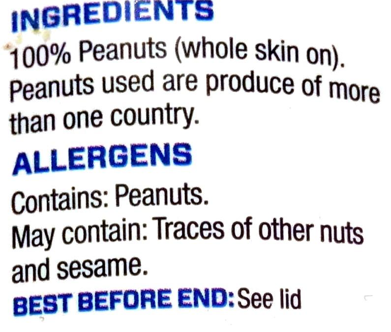 All-Natural Peanut Butter Original Crunchy - Ingredienti