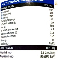 Peanut Butter Crunchy - Nutrition facts