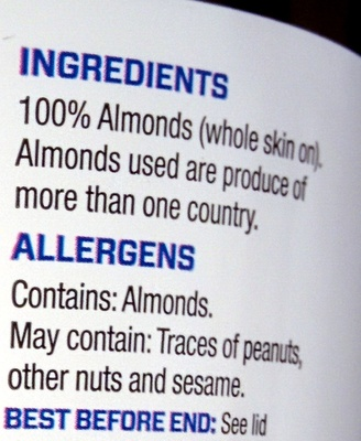 All Natural Almond Butter - Ingredients - en