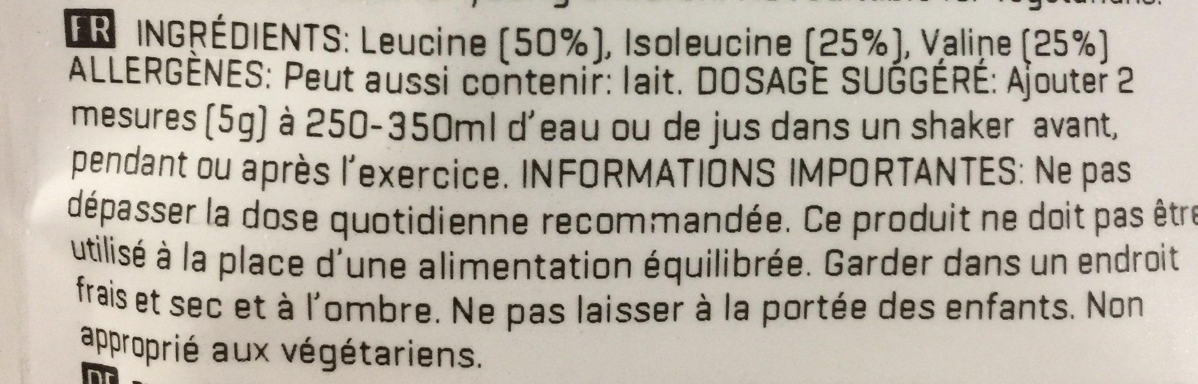 BCAA unflavoured - Ingrédients - fr