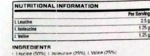 BCAA unflavoured - Informations nutritionnelles - en