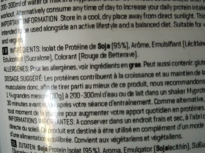 soy protein isolate - Ingredients