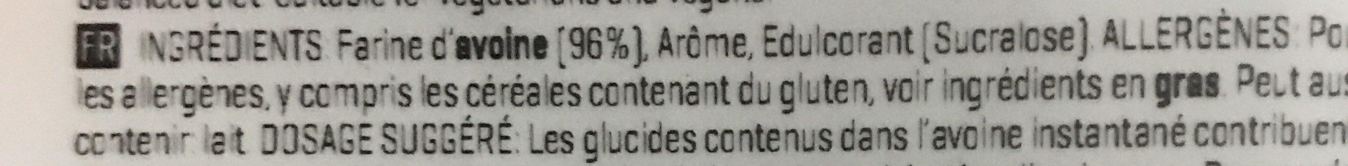 Myprotein Instant Oats Vanilla - Ingrédients - fr
