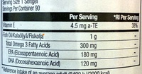 Omega 3 - Nutrition facts