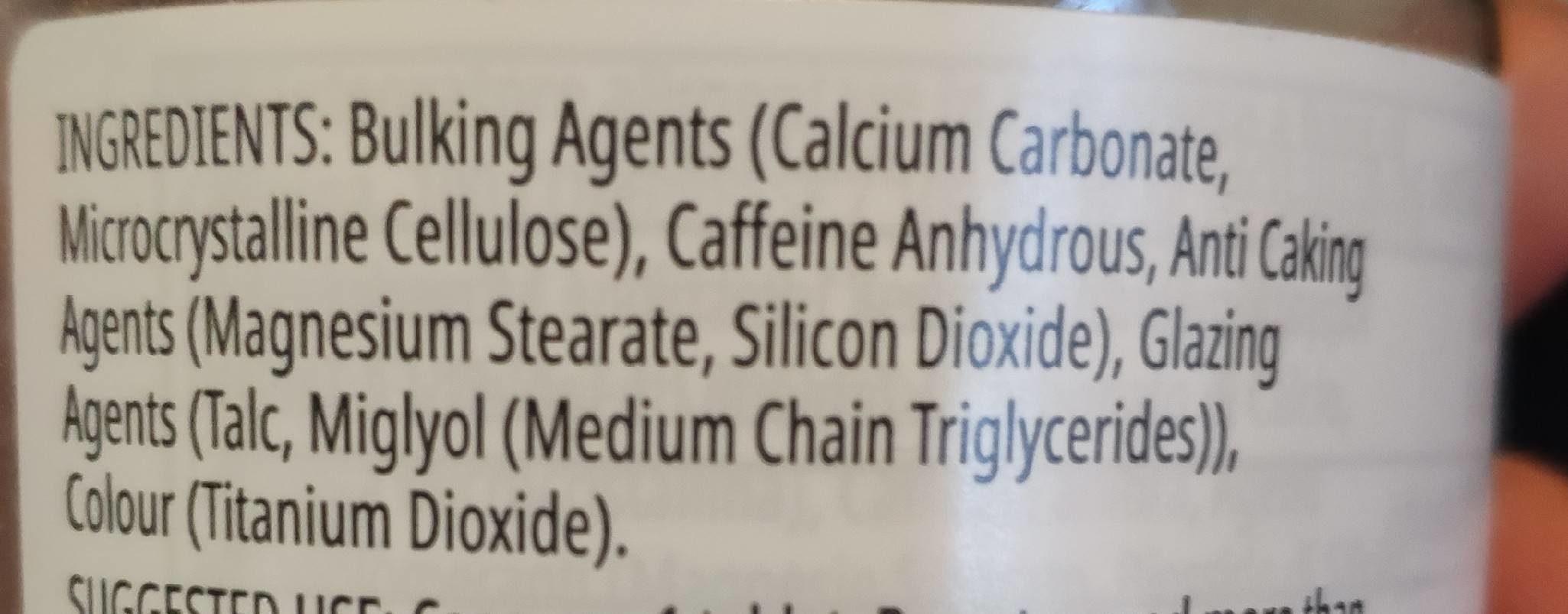 Pure caffeine - Ingrediënten