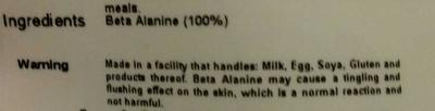 Beta Alanine - Ingrediënten - de