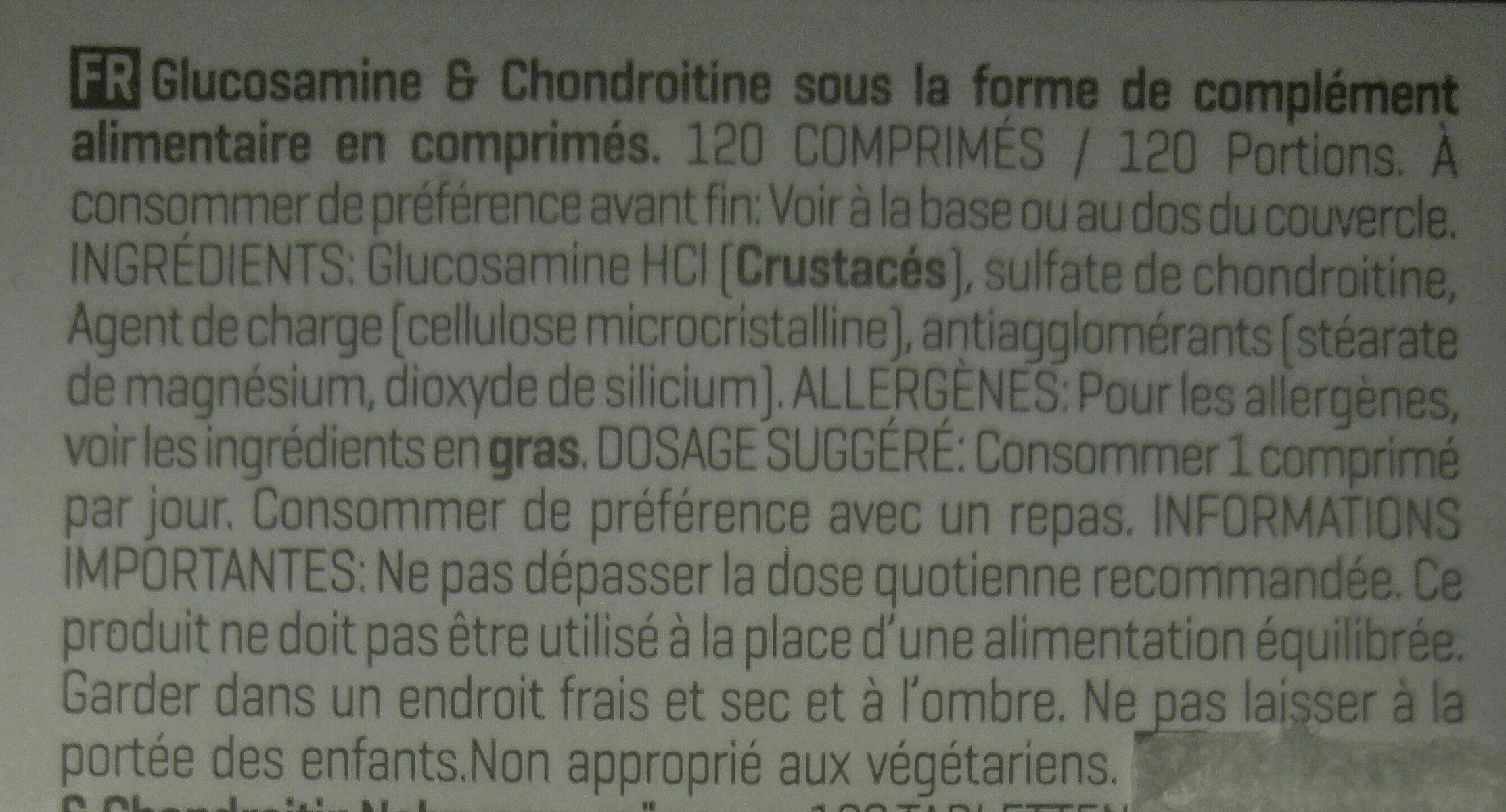 Glucosamin HCL + Chondroitin Hochdosiert, Neutral - Ingredients - fr