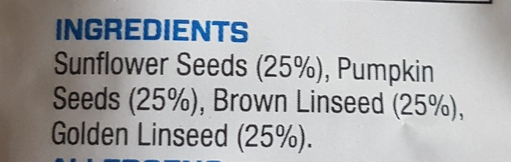 Omega Seed Mix - Ingredients