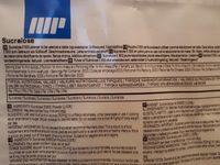 Sucralose - Informations nutritionnelles - fr