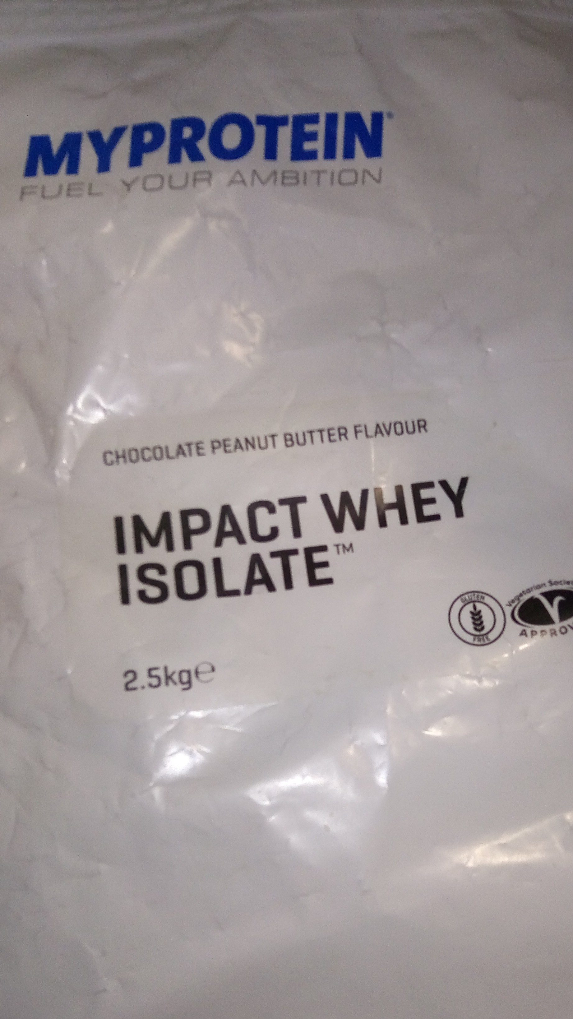 Impact Whey Isolate Chocolate Peanut Butter Myprotein
