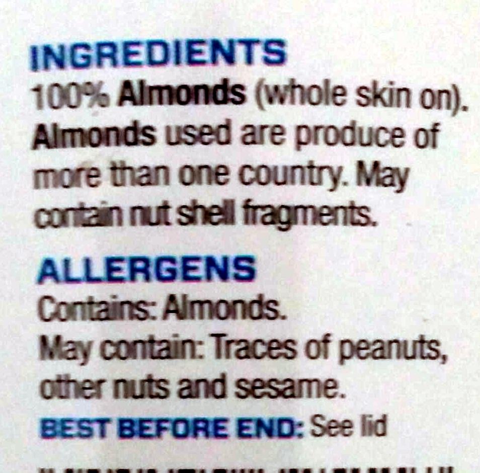 Almond Butter Crunchy - Ingrediënten