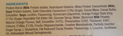 My Protein Hurricane XS Bar Chocolate Orange - Ingredients - en