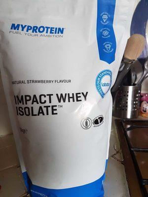 Impact whey isolate - Produit