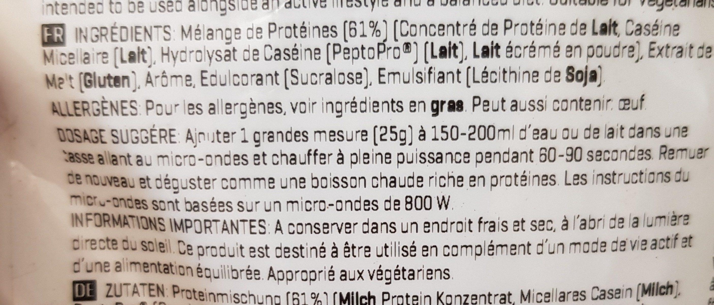 Protein Hot Latte - Ingrédients