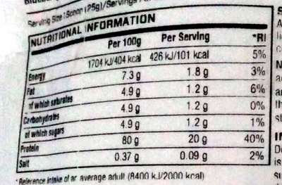 Impact Whey Protein Nutritional Info Nutrition Facts Impact Whey