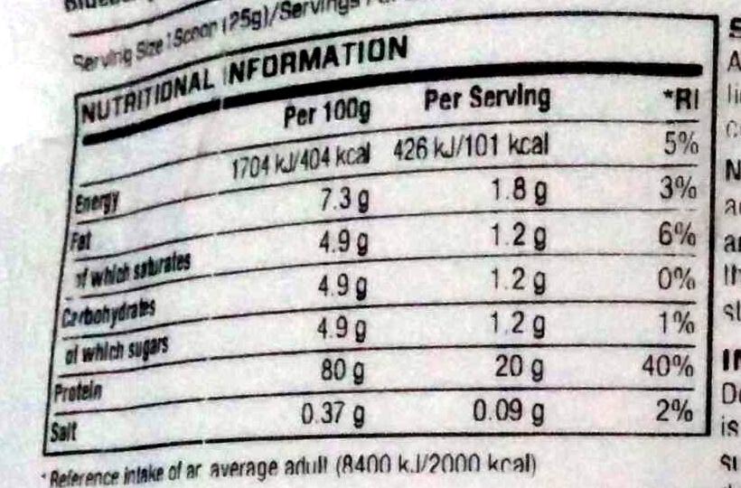 Impact Protein Impact Whey Protein Blueberry