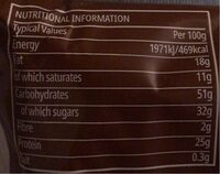Protein Chocolate Clusters - Informations nutritionnelles - fr