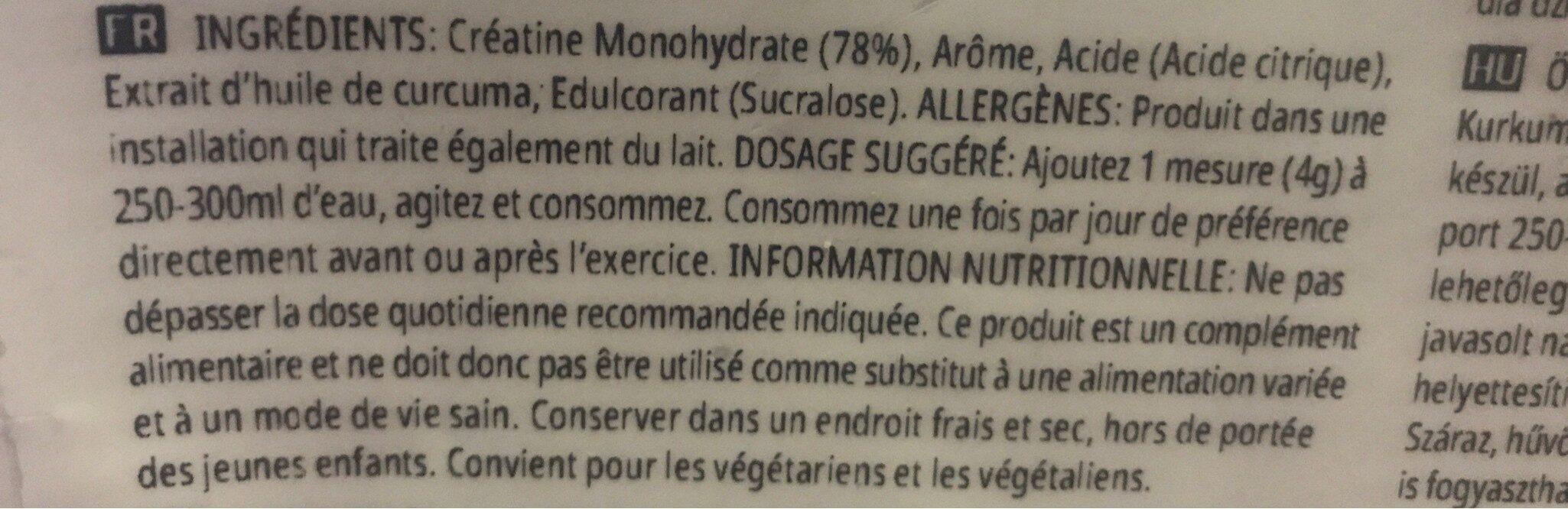 Creatine Monohydrate - Ingredients