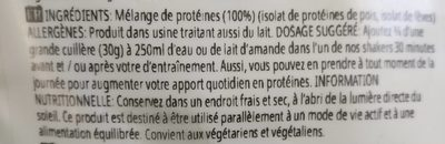 Vegan protein blend - Ingrédients - fr