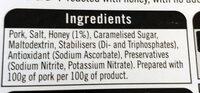 British honey roast ham - Ingredients - en