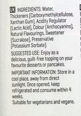 My syrup - Ingredients - en