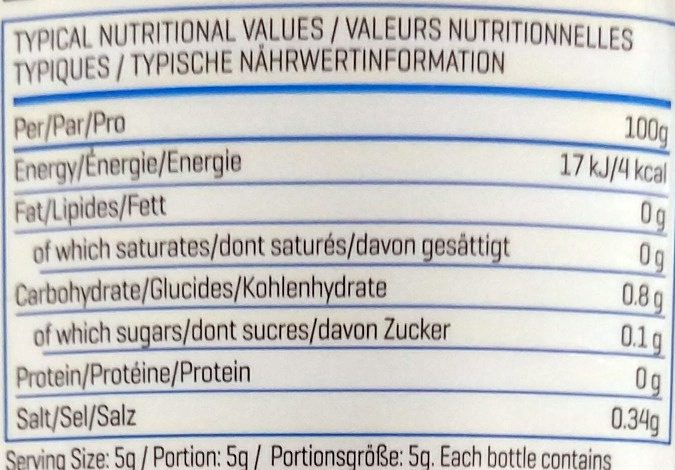 My syrup - Nutrition facts - en