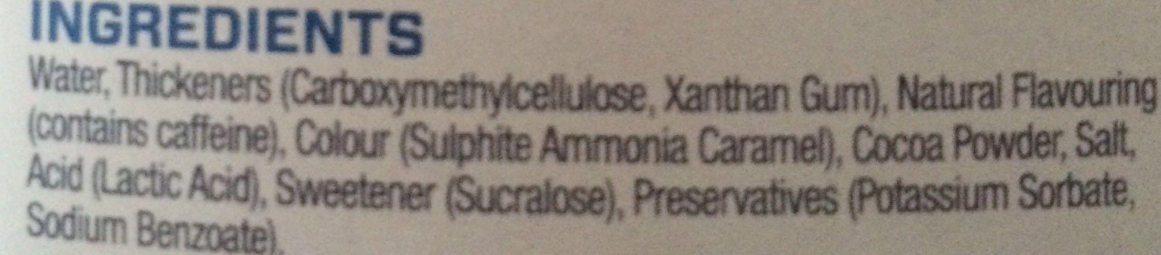 My Syrup saveur Chocolat - Ingredients - en