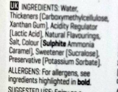 Sugar-Free Syrup - Ingredients - en