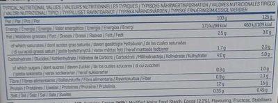 PUDDING CHOCOLAT protéiné - Informations nutritionnelles - fr