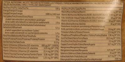 Organic Chlorella Powder - Nutrition facts - en