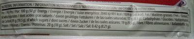 Hemp Protein Bar (sample) 52G, Unflavoured - Informations nutritionnelles