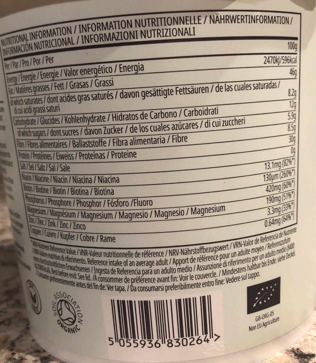 Beurre de cacahuètes Bio - Informação nutricional - fr