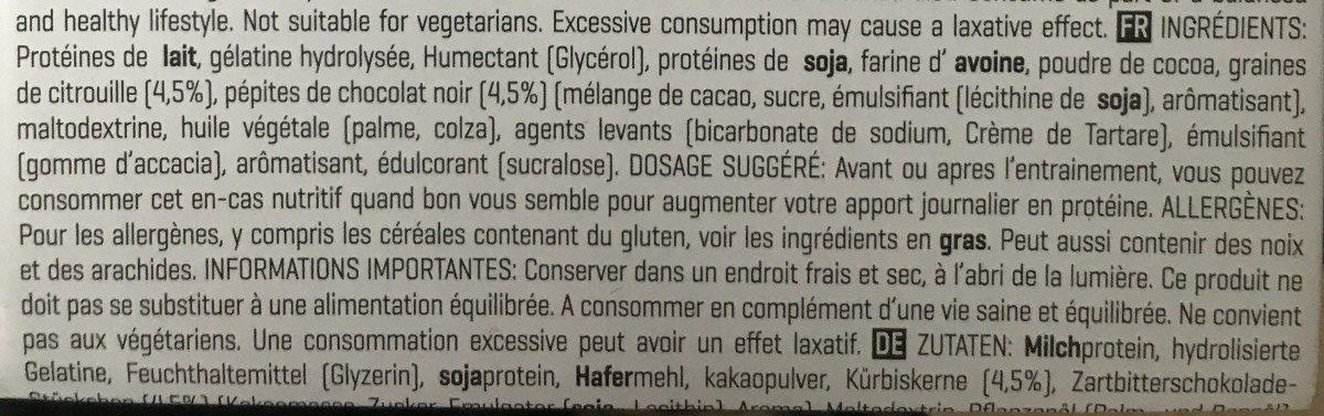 Lean Cookie - Ingrediënten - fr