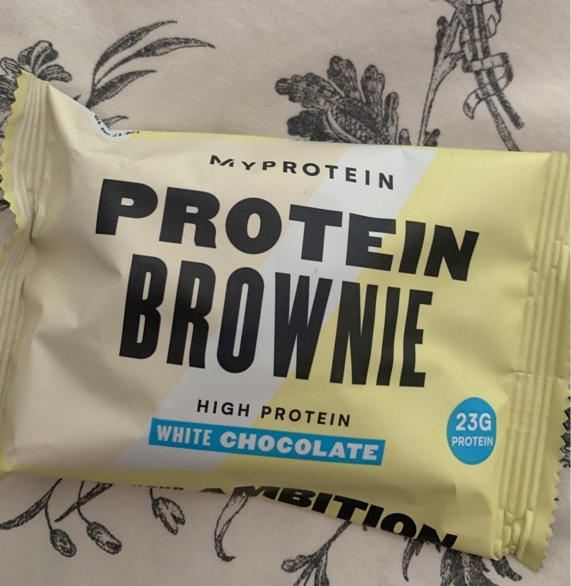 Protein Brownie White Chocolate - Prodotto - fr