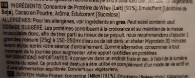 Impact whey protein elite - Ingrédients - fr